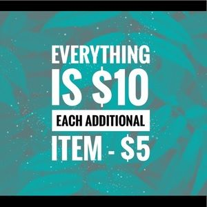 1 for $10, 2 for $15, 3 for $20, 4 for $25, etc